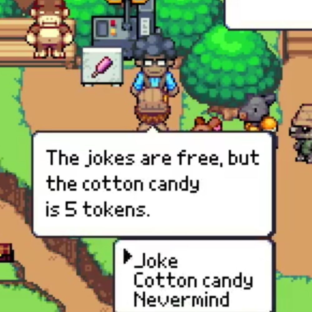 Zookeeper Update: Conrad doesn't just sell cotton candy, he tells jokes too. For free.